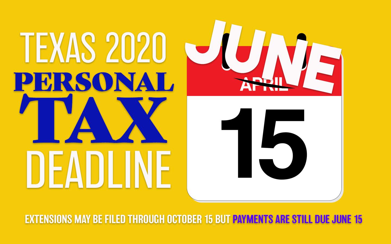 Personal Tax Filing Deadline